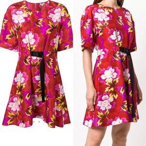 NWT Kenzo Indonesian silk flower print dress 36